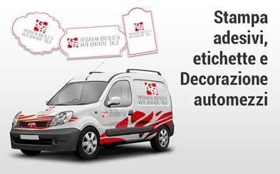 Stampa adesivi, etichette, decorazione automezzi aziendali - Tipografia Bortolotti