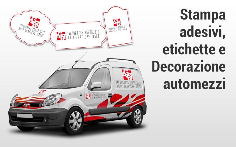Stampa online adesivi, etichette, decorazione automezzi aziendali