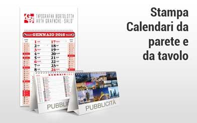 Stampa calendari da parete e da tavolo - Tipografia Bortolotti