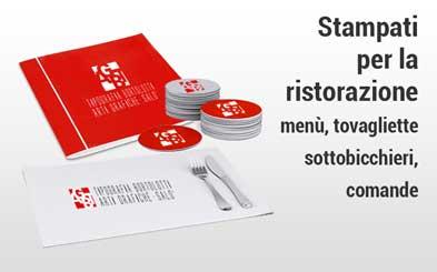 Stampa ristorazione - Tipografia Bortolotti