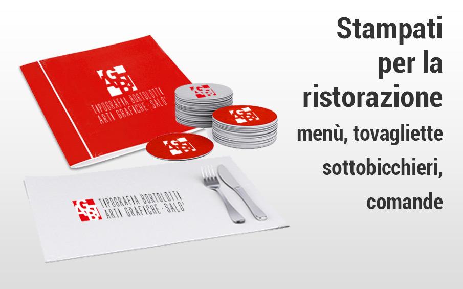 Stampa online ristorazione