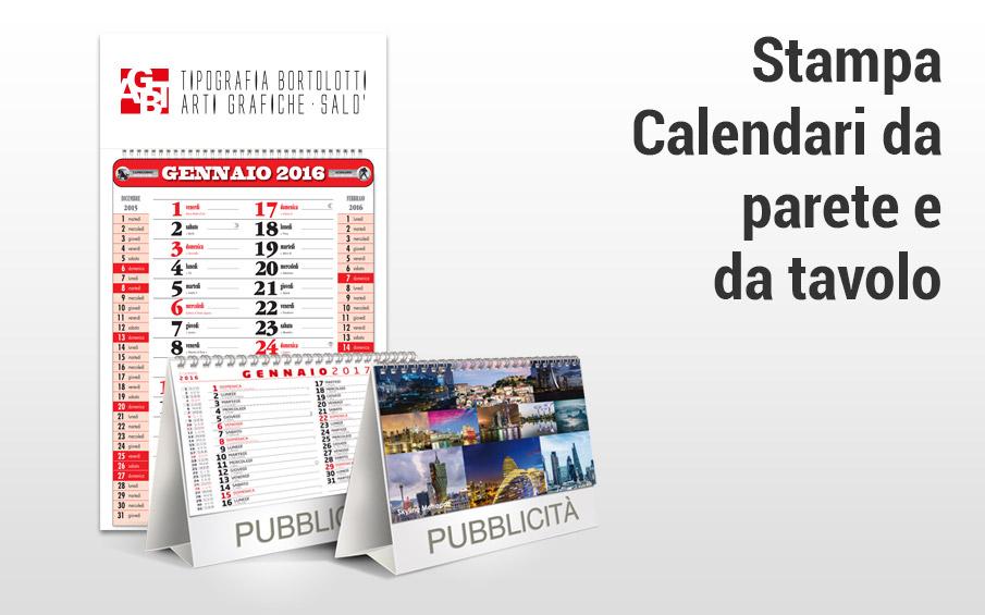 Stampa online calendari da parete e da tavolo
