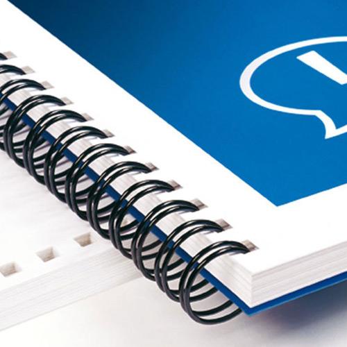 Stampa cataloghi, riviste e brochure - rilegatura a spirale metallica