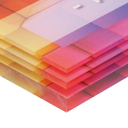 Stampa supporti rigidi plexiglass trasparente
