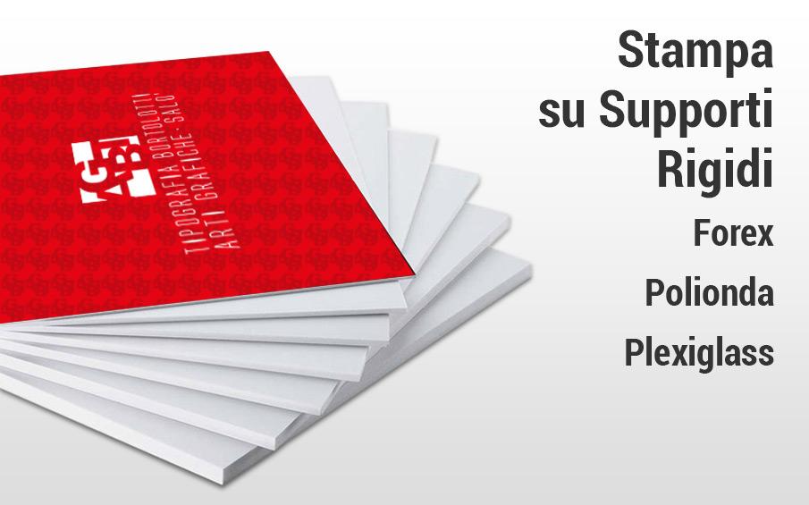 Stampa grande formato supporti rigidi, forex, plexiglass per insegne