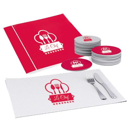 Stampa ristorazione di menù, tovagliette e sottobicchieri