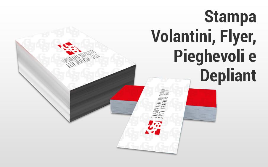 Stampa piccolo formato volantini, flyer, pieghevoli e depliant
